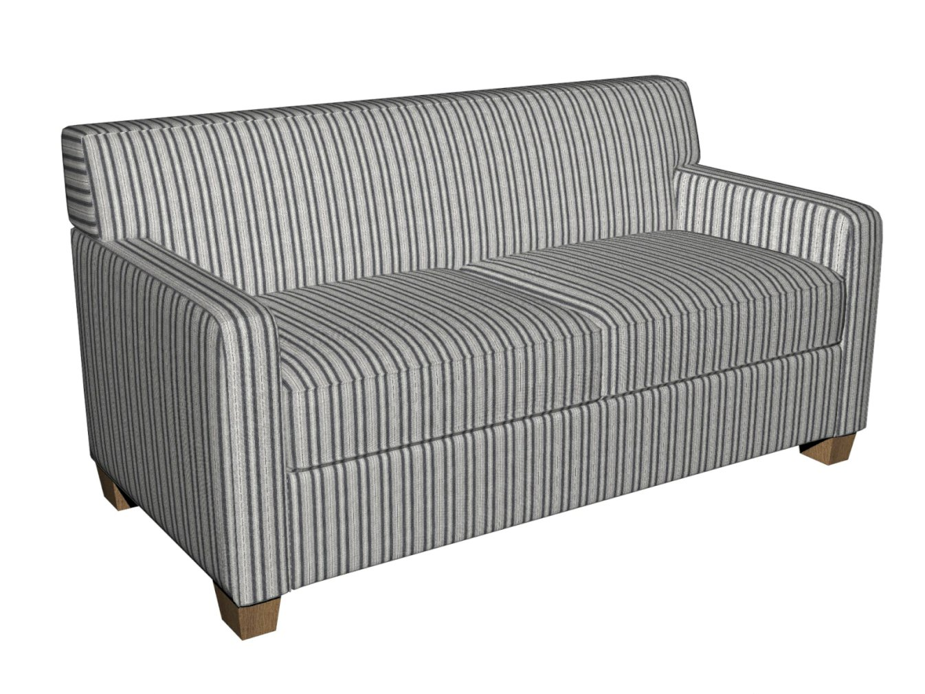 Sterling Gray And Silver Stripe Country Damask Upholstery