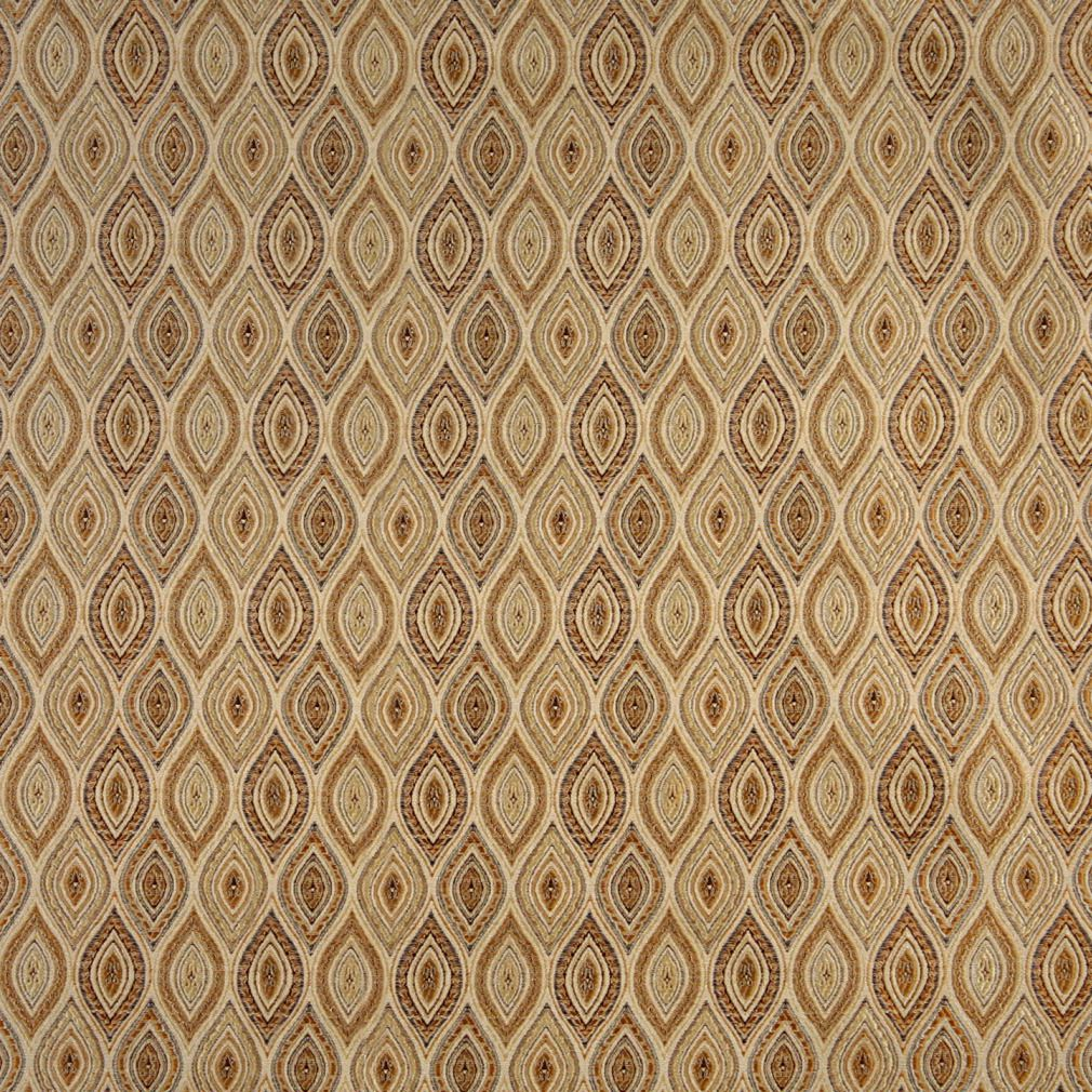 Gold Beige Abstract Diamond Or Moroccan Pattern Brocade