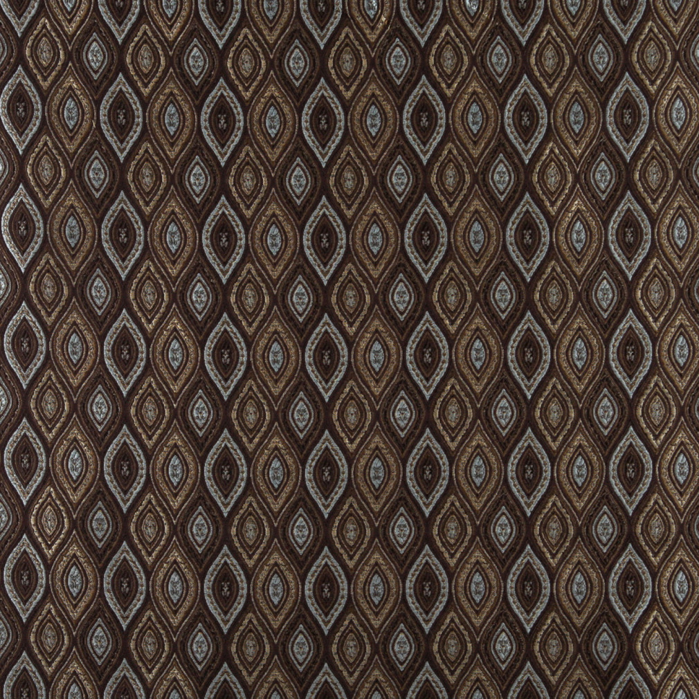 Beige Blue And Brown Abstract Diamond Or Moroccan Pattern