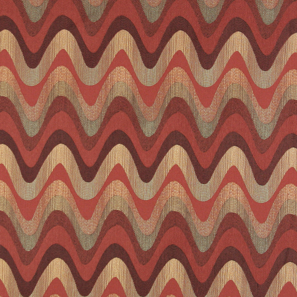 Burgundy Red And Coral Abstract Wave Or Contemporary