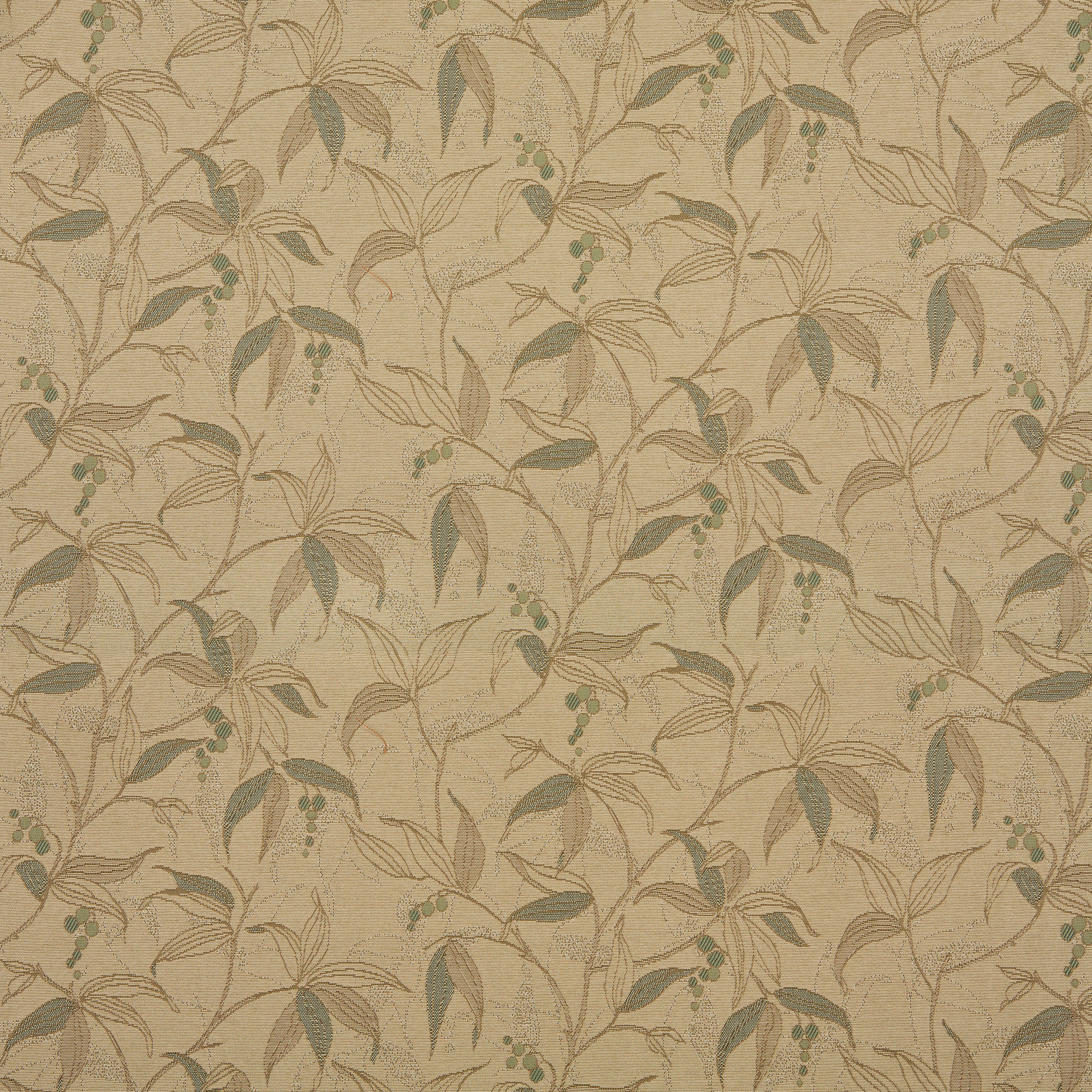 Beige And Sage Green Natural Plant With Leafs Pattern