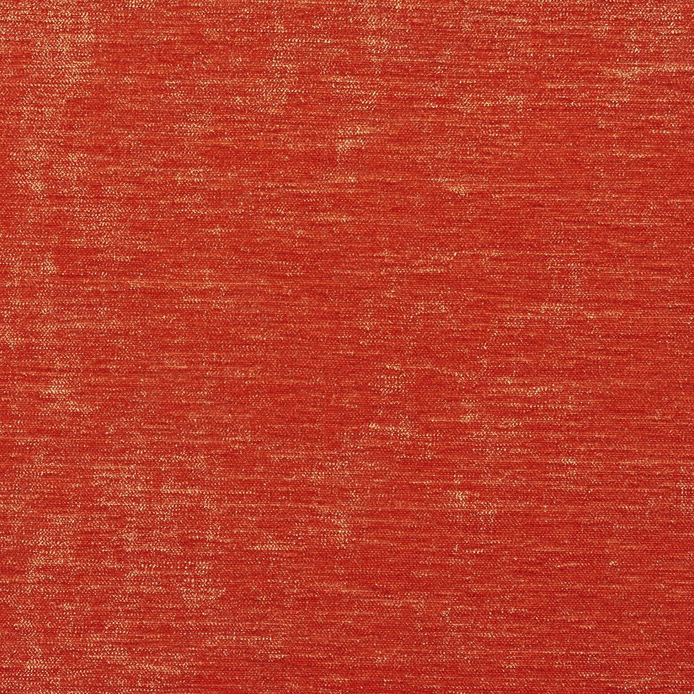 Bright Coral Shiny Contemporary Look Velvet Upholstery Fabric