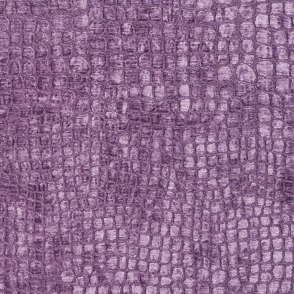 Lilac Shiny Reptile Skin Look Velvet Upholstery Fabric