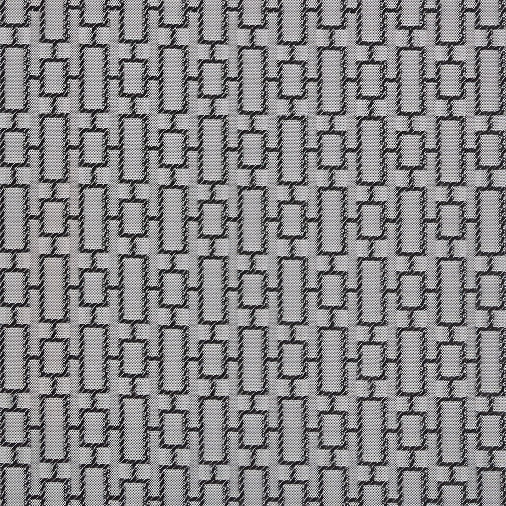 black and grey geometric squares contemporary damask