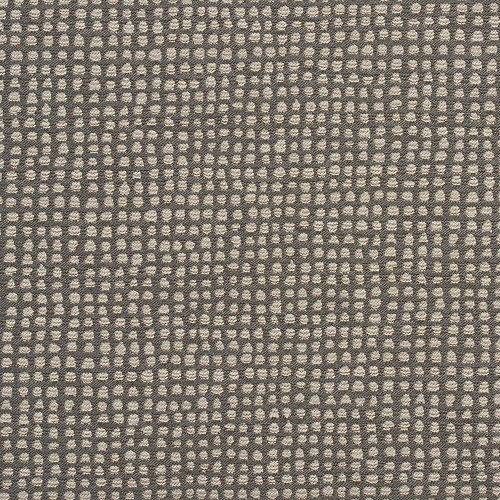 Grey And Cream Mesh Abstract Damask Upholstery Fabric
