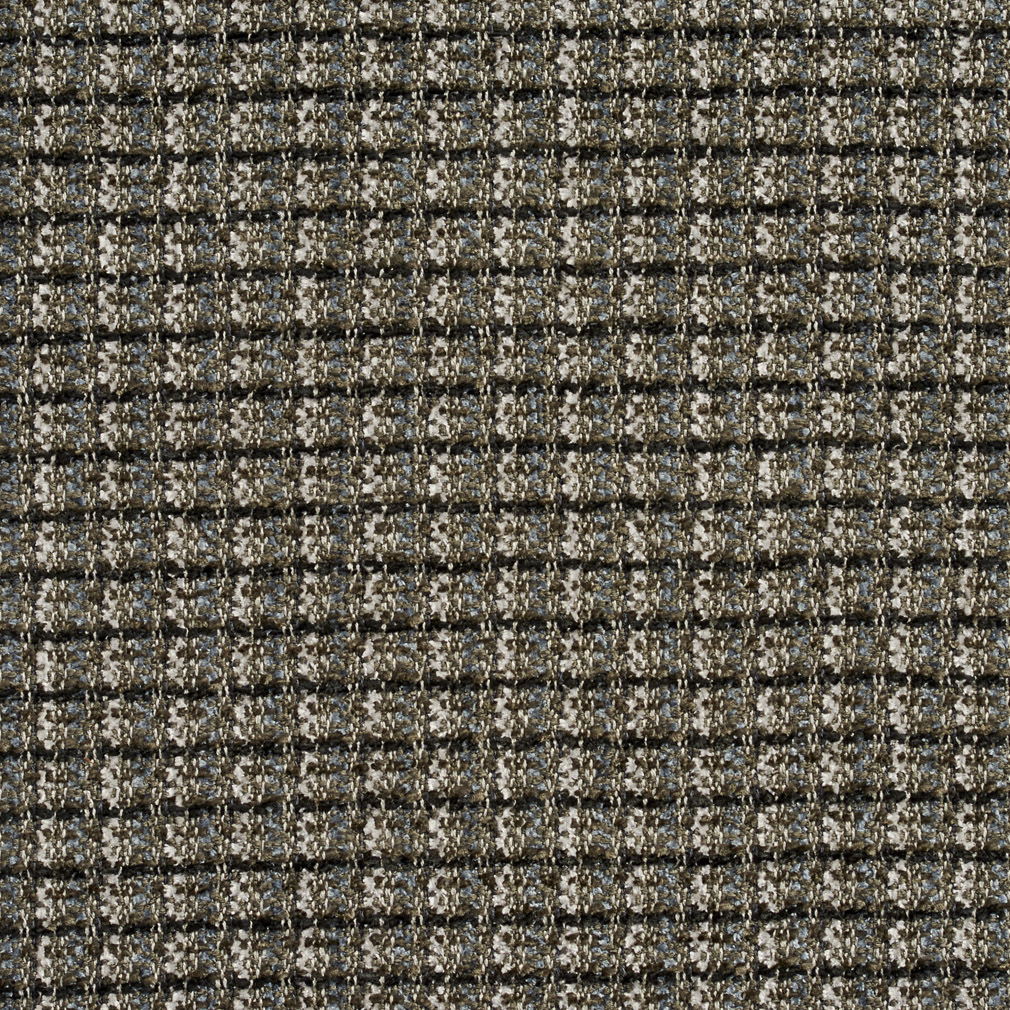 Black And Grey Country Chenille Upholstery Fabric