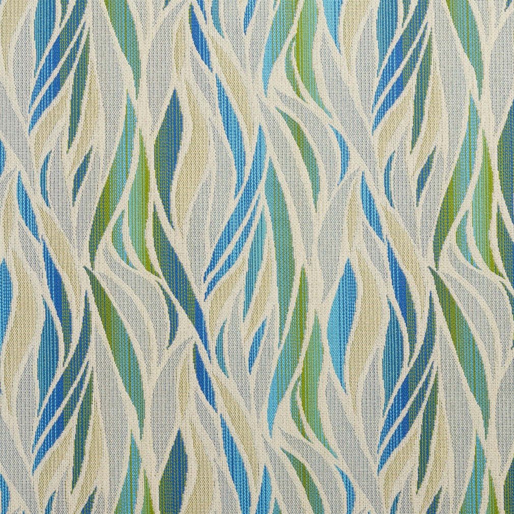 Aqua And Light Geen Contemporary Tweed Flame Upholstery Fabric