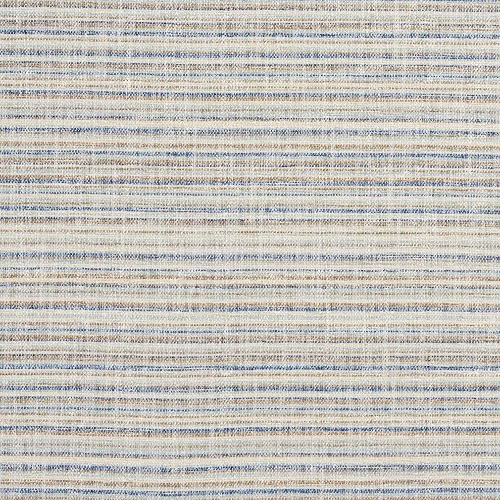 Coastal Beige And Light Blue Small Scale Stripe Tweed