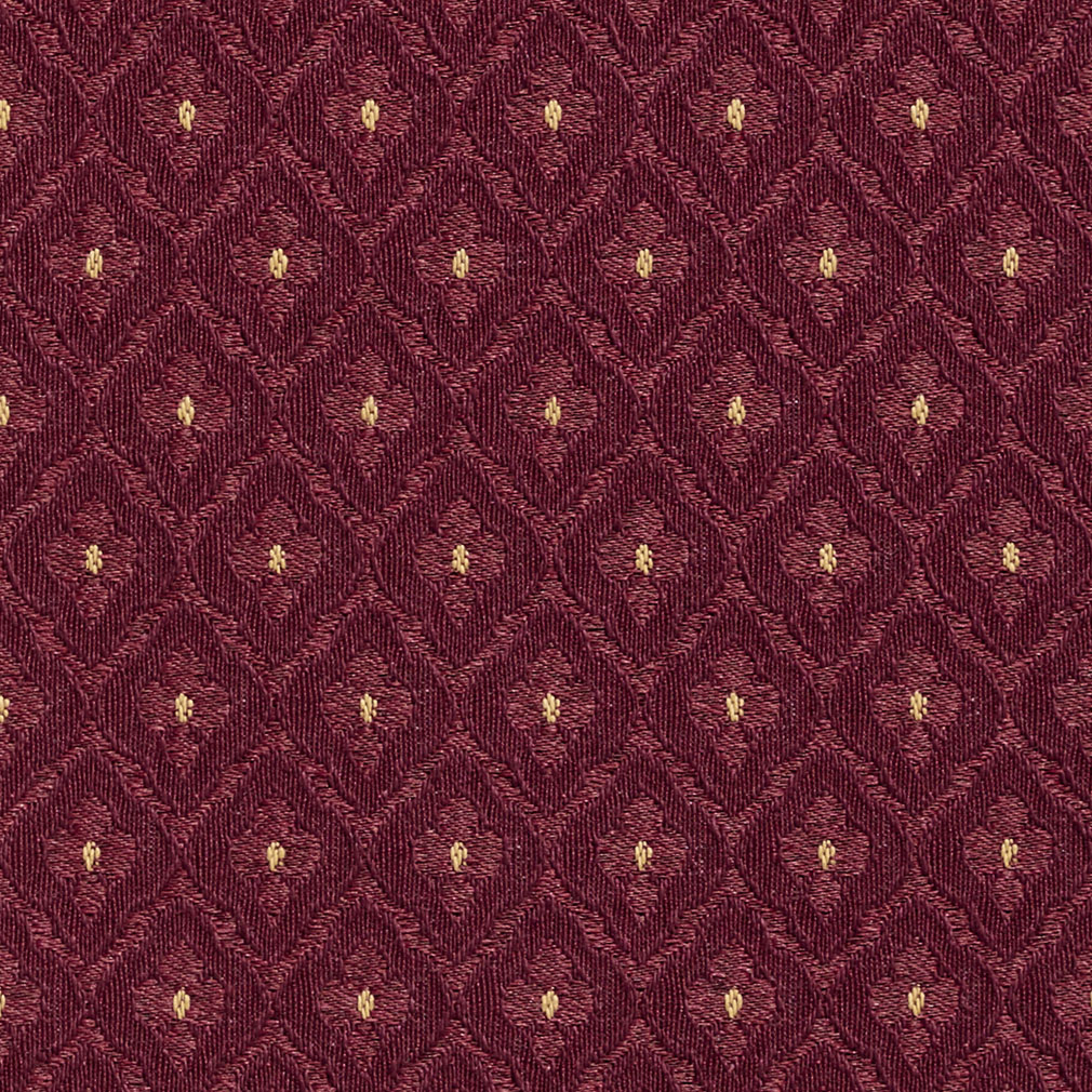 Merlot Burgundy Abstract Damask Upholstery Fabric