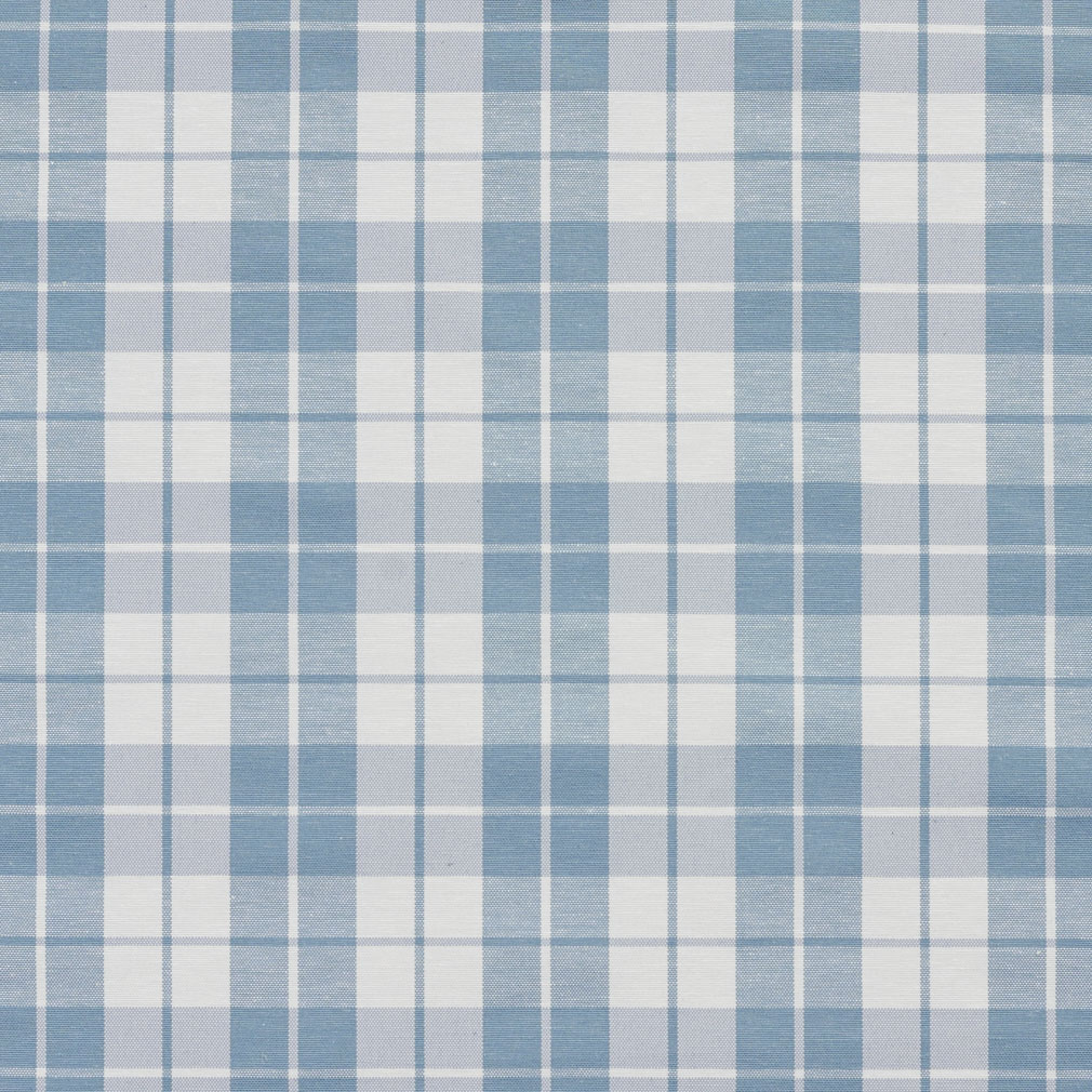 Cornflower Plaid Light Blue And White Small Scale Denim