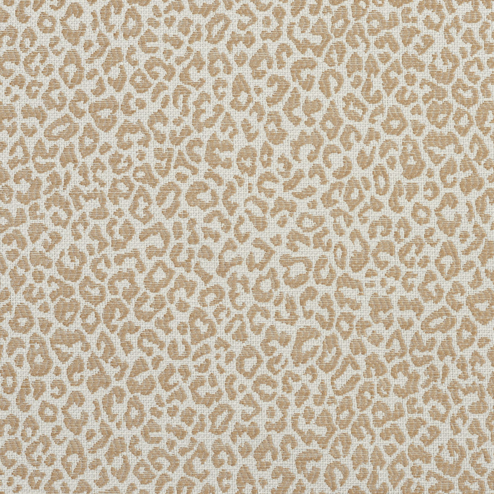 Sand Beige Animal Print Damask Drapery And Upholstery Fabric