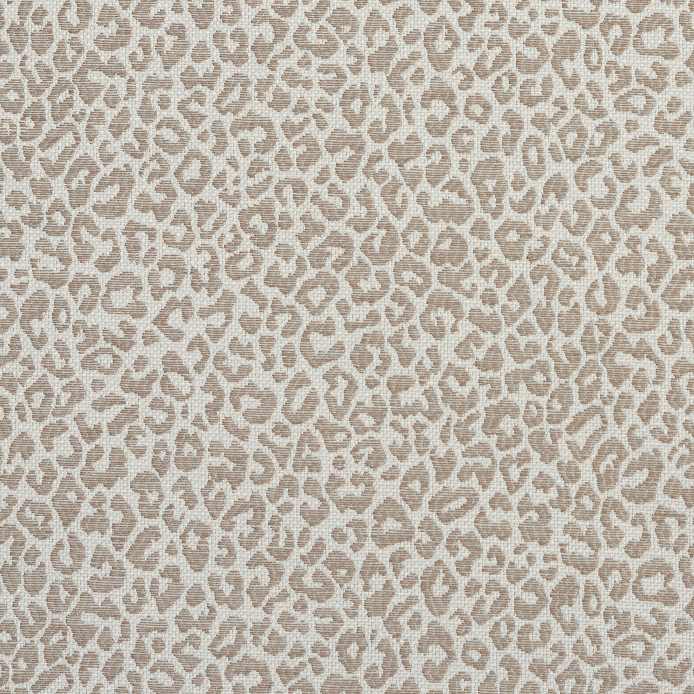 Taupe Beige And White Leopard Animal Print Damask