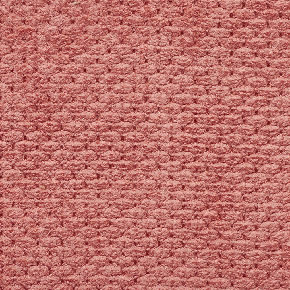 Salmon Pink Solid Raised Texture Chenille Upholstery Fabric