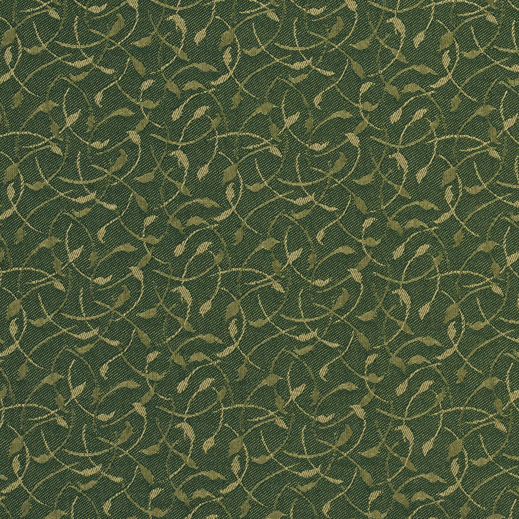 Leaf Dark Green And Light Geen Foliage Damask Upholstery