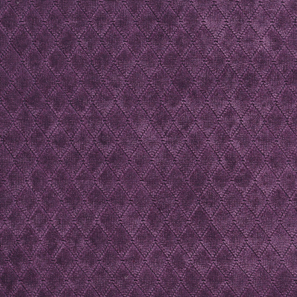 Wine Lilac Diamond Chenille Upholstery Fabric