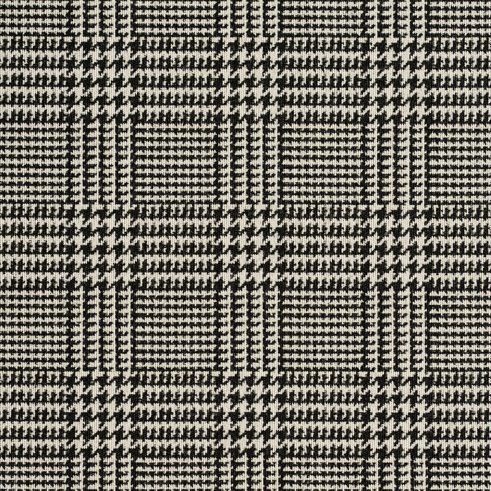 Black And White Plaid Country Damask Upholstery Fabric