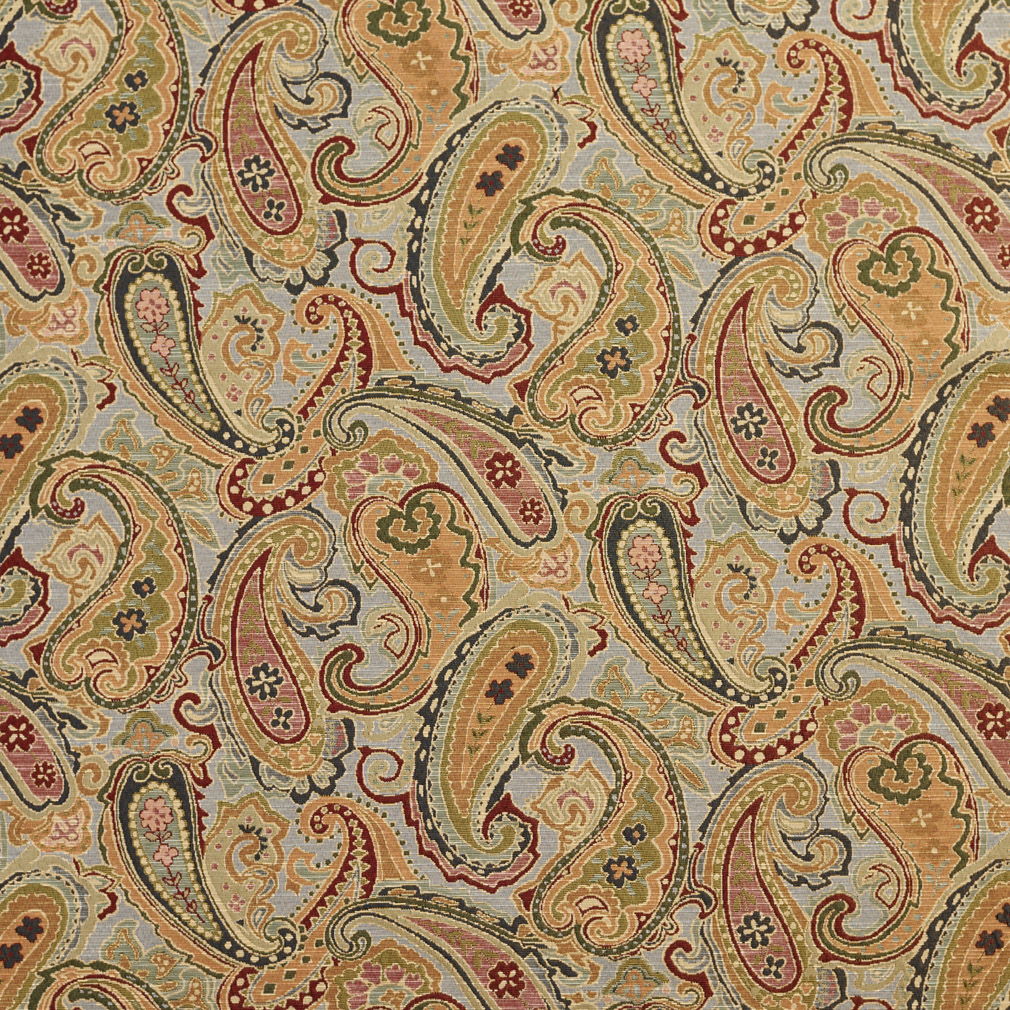 Heather Paisley Beige And Burgundy Abstract Tapestry
