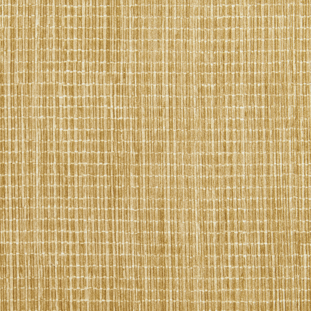 Bright Gold Bound Straw Look Printed Microfiber Upholstery