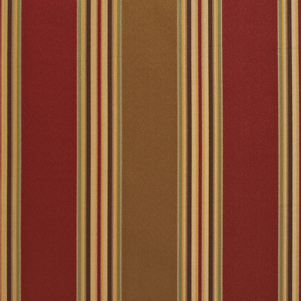 Burgundy And Beige Large Shiny Stripe Damask And Silk