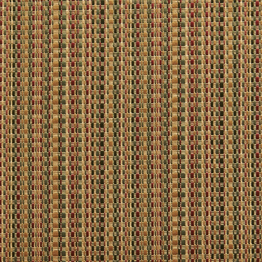Beige And Burgundy Small Scale Stripe Damask Upholstery Fabric
