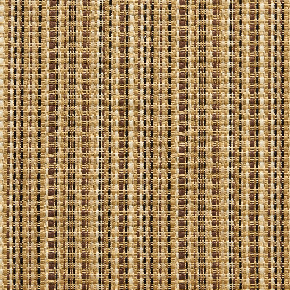 Beige Brown And Gold Small Scale Stripe Damask Upholstery