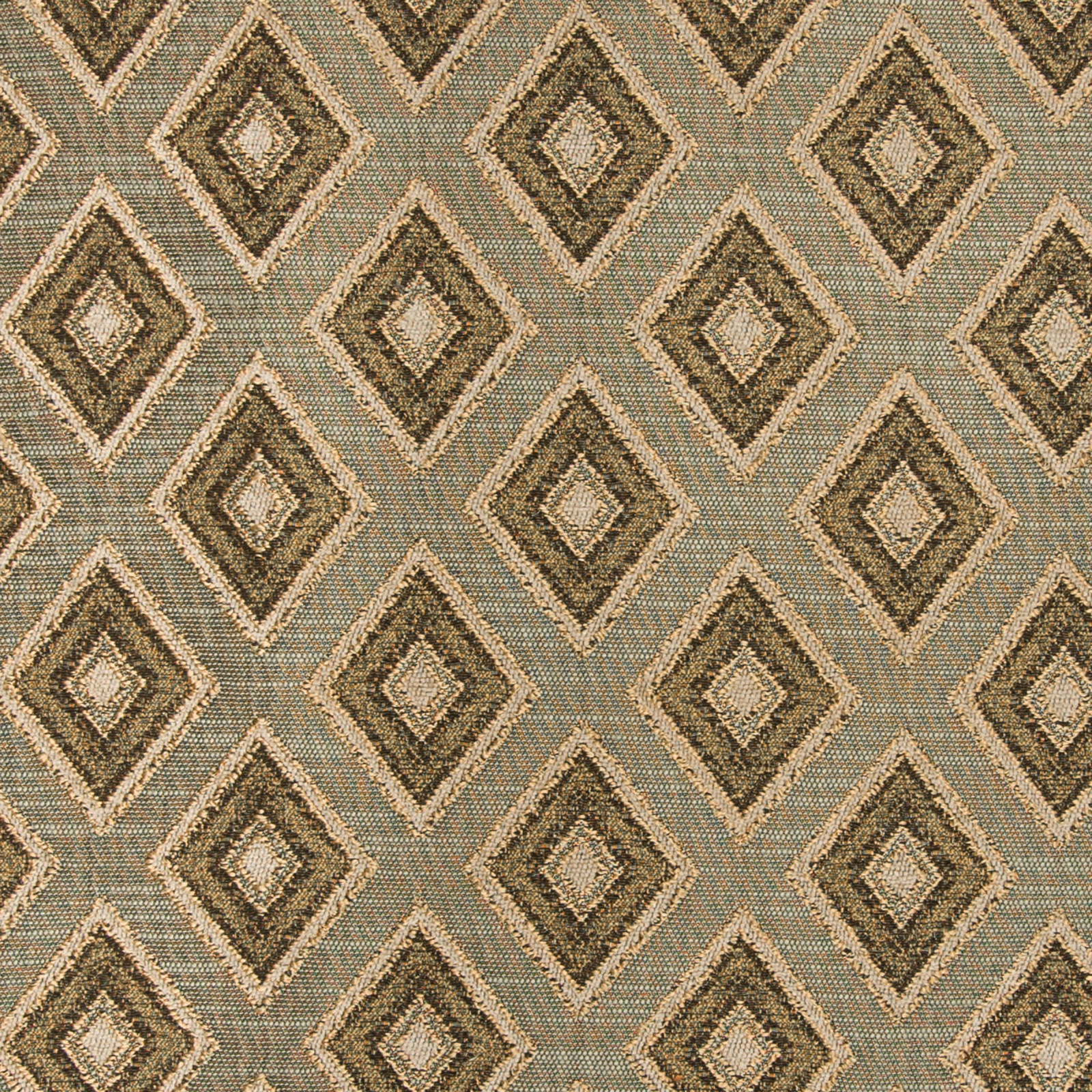 Taupe Brown Geometric Upholstery Fabric