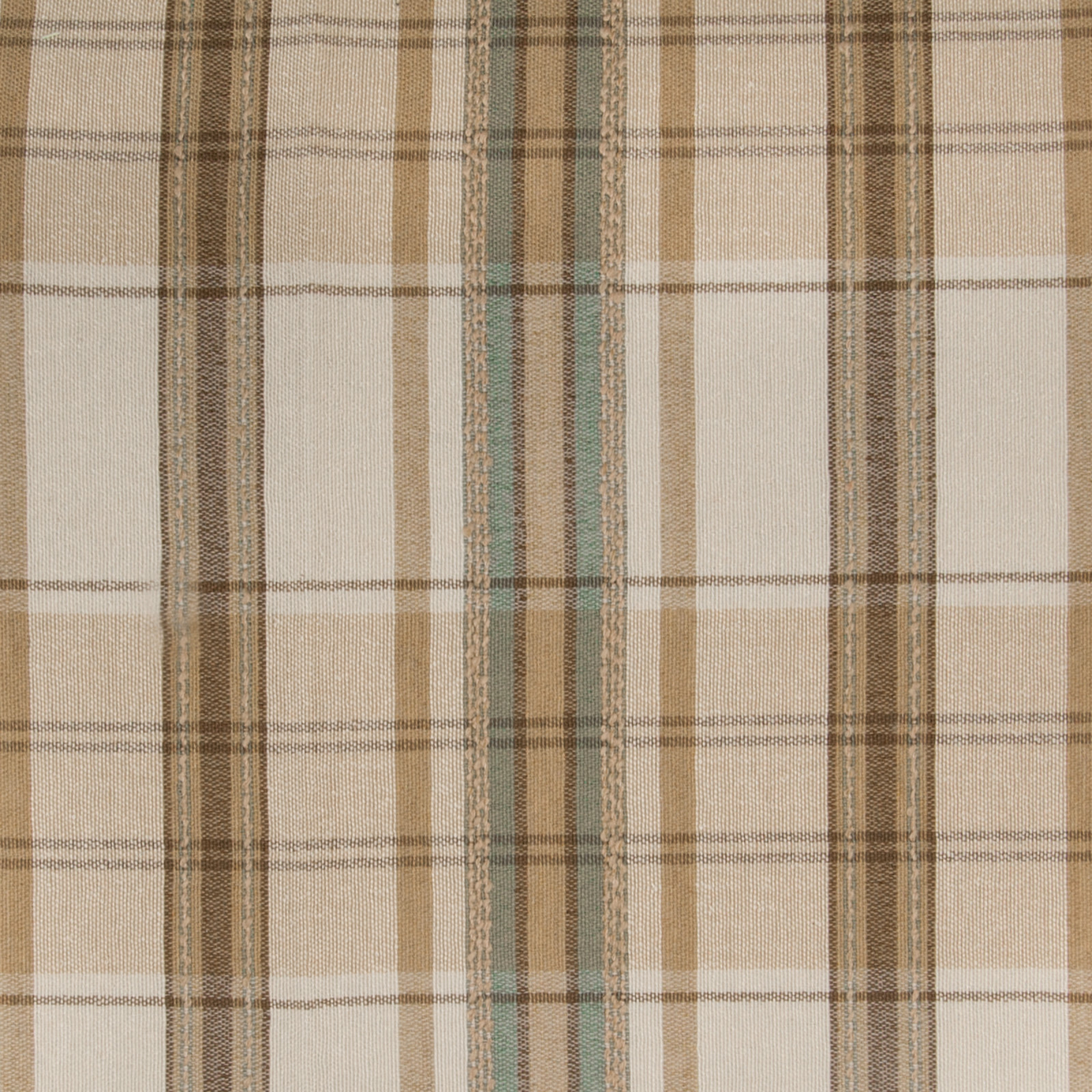 Camel F Neutral Plaid Woven Upholstery Fabric