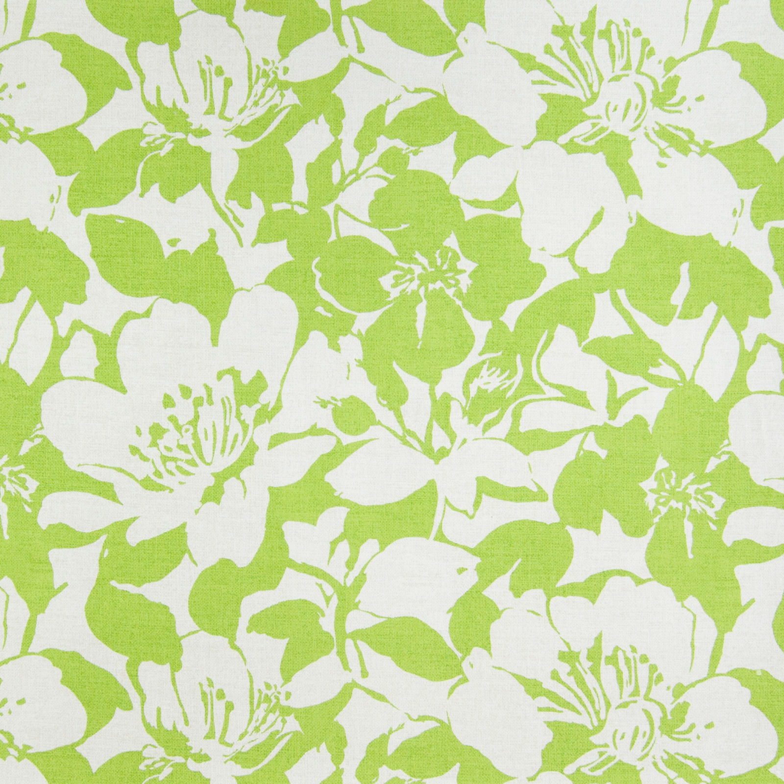 Lime Green Floral Print Upholstery Fabric