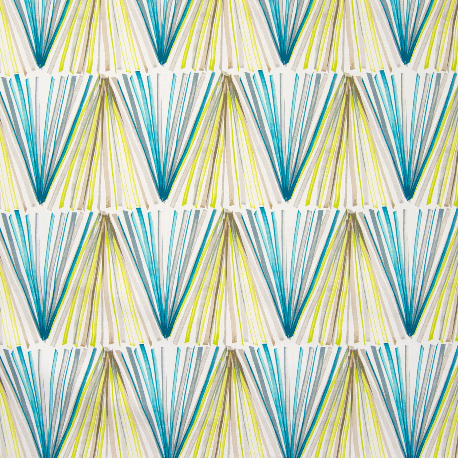 Teal Teal And Green Contemporary Print Drapery And