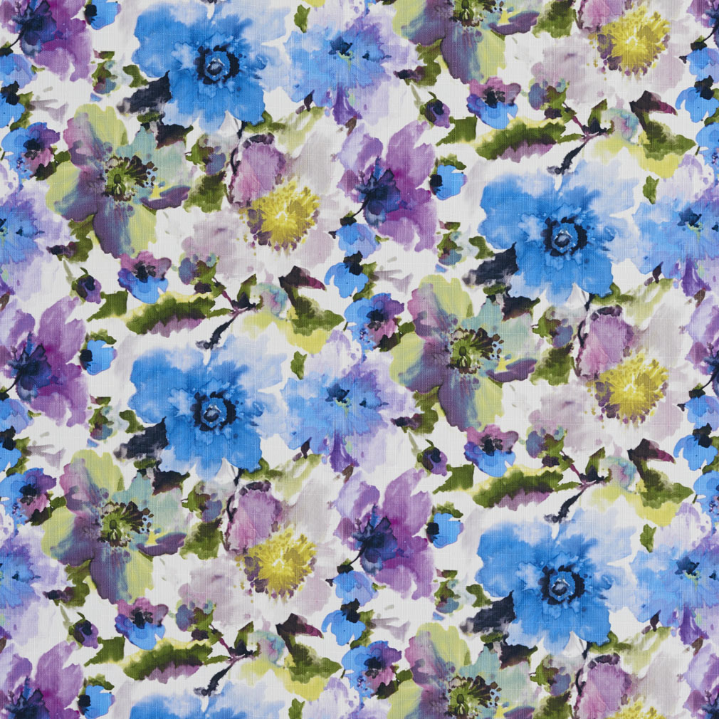 Blue And Purple Water Color Painting Large Flower Print