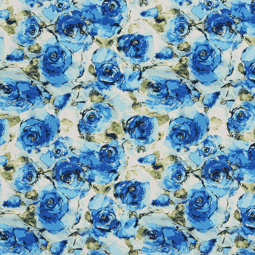 Dark Blue And Light Blue Rose Flower Painting Print