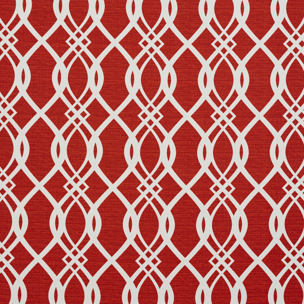 Red Burgundy And White Contemporary Geometric Print