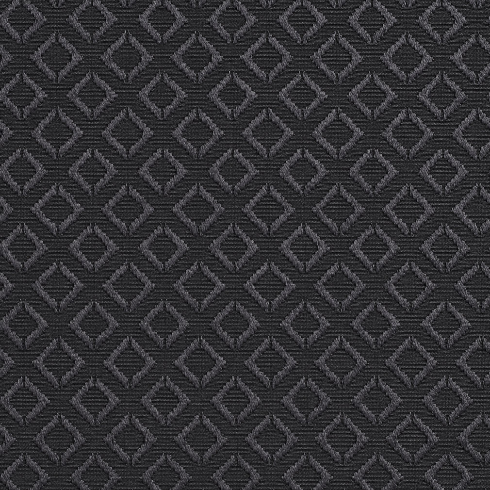 Black Decorative Small Raised Diamond Brocade Jacquard