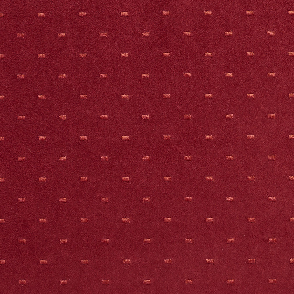 Wine Red Burgundy Dot Abstract Microfiber Upholstery Fabric