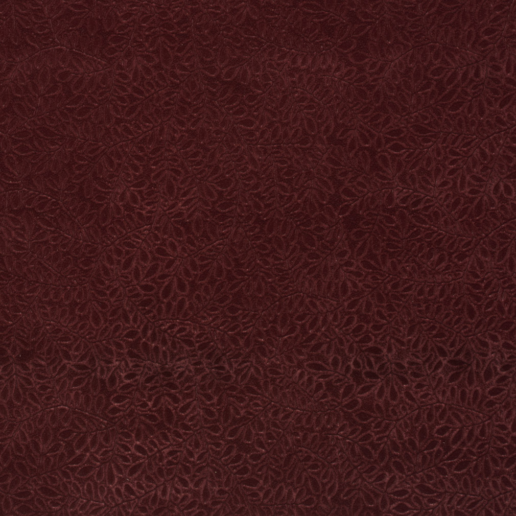 Wine Burgundy Small Vine Leaf Texture Soft Microfiber