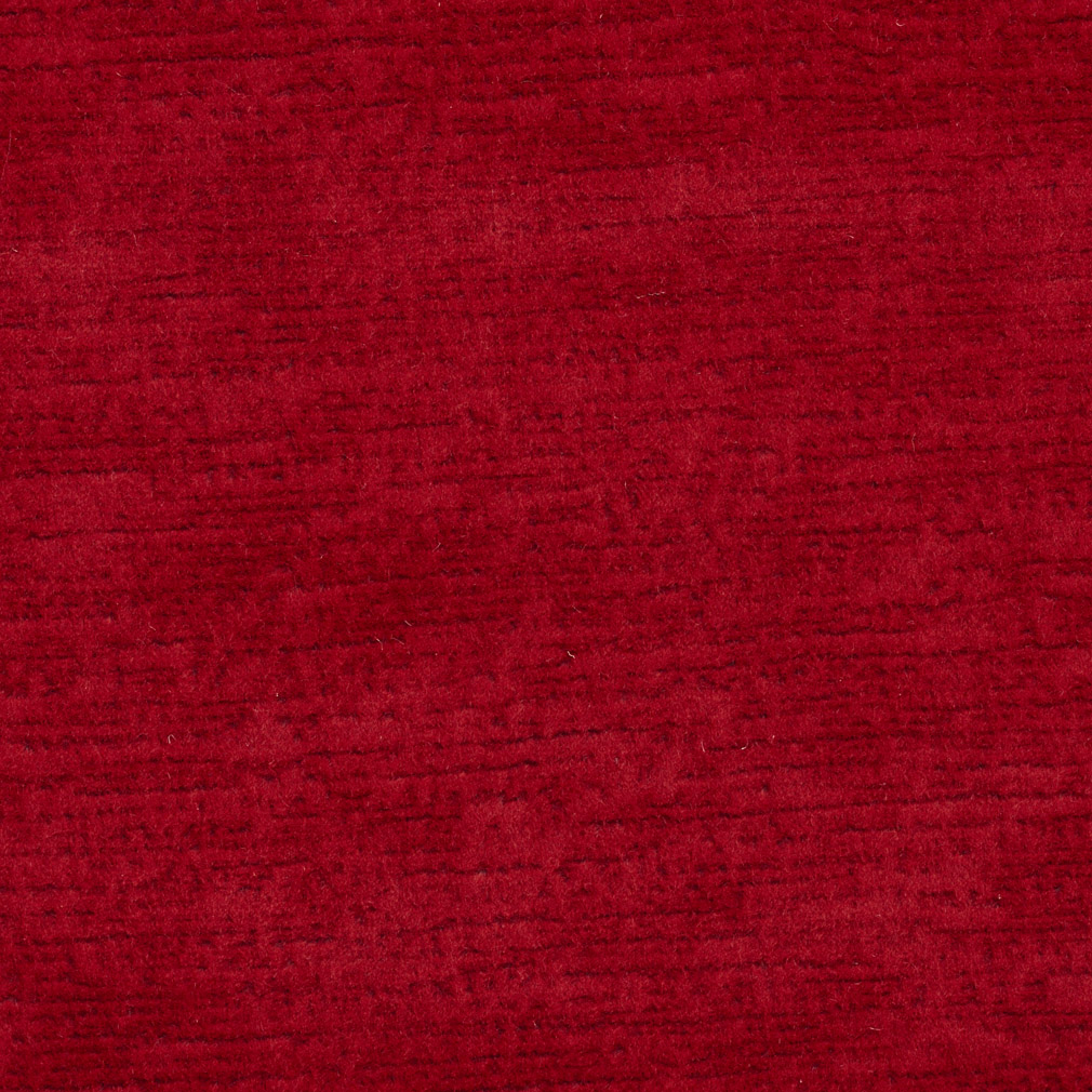 Ruby Red Solid Brushed Texture Soft Microfiber Velvet