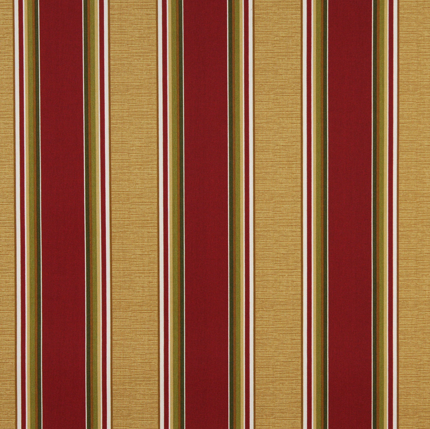 Burgundy And Gold Large Decorative Stripe Upholstery Fabric