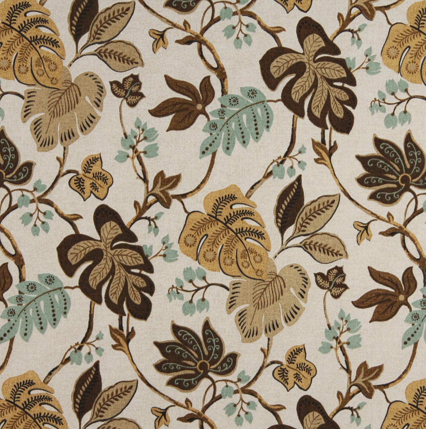 Java Aqua And Beige Contemporary Outdoor Upholstery Fabric