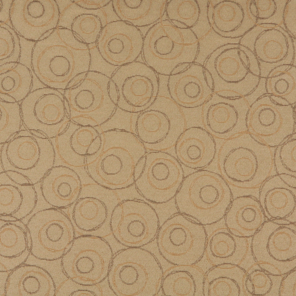 sand beige and brown artistic circles pattern d