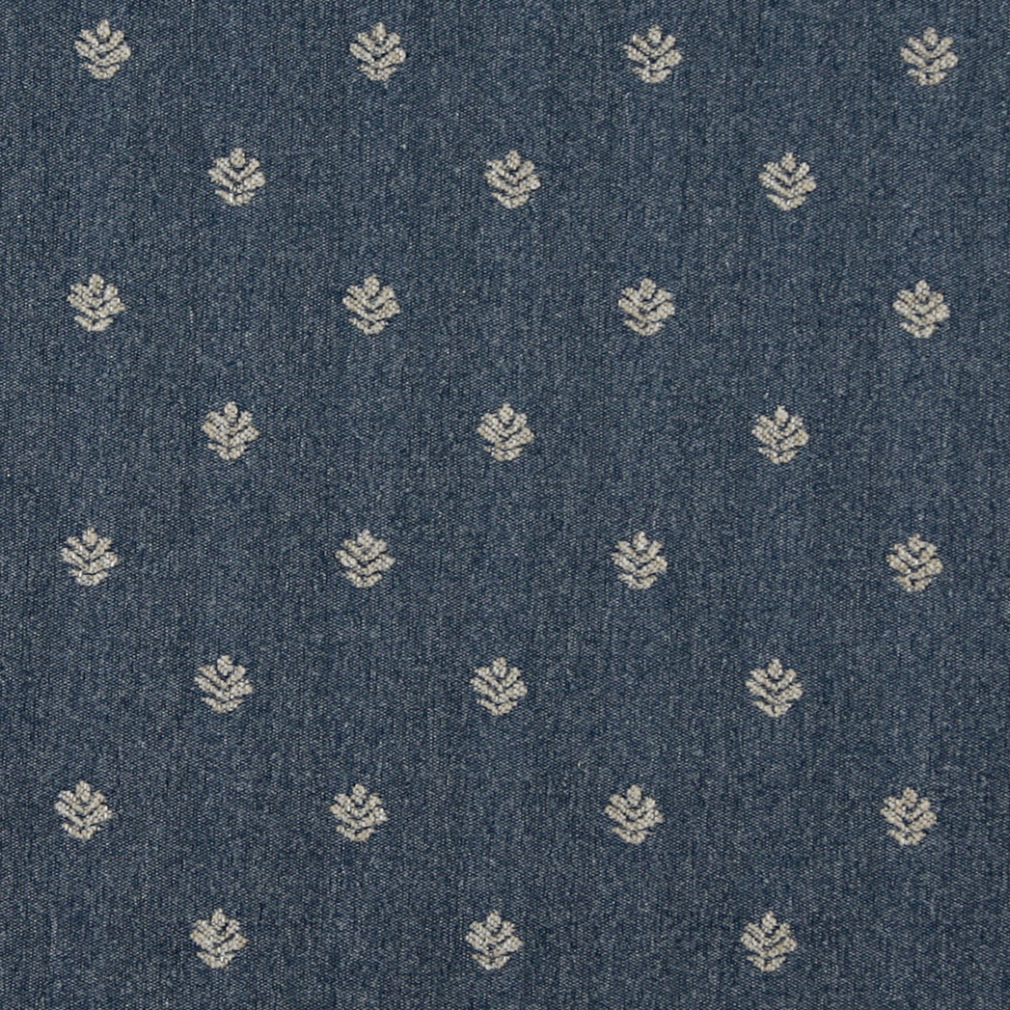 wedgewood blue and white small leaf of fern pattern country tweed upholstery fabric. Black Bedroom Furniture Sets. Home Design Ideas