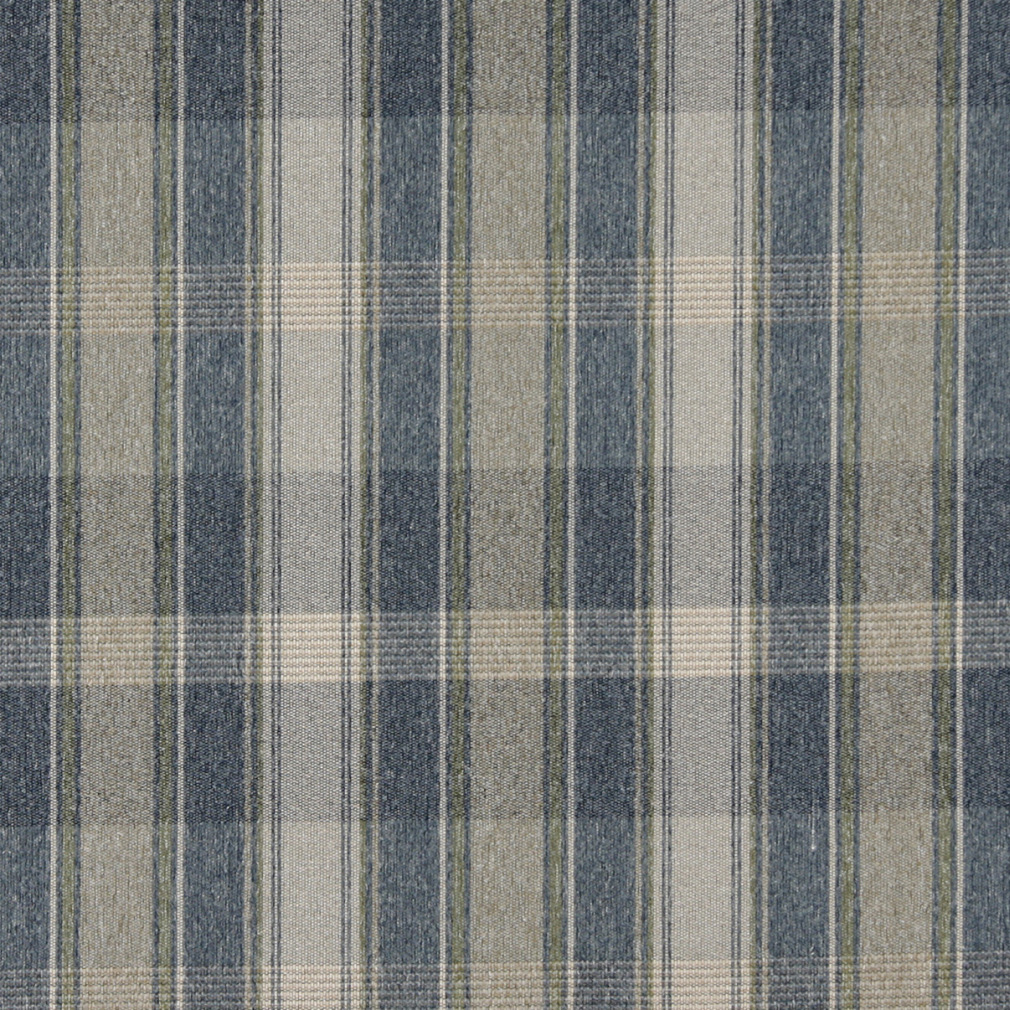 Meadow Beige And Blue Country Lodge Cabin Plaid Tweed