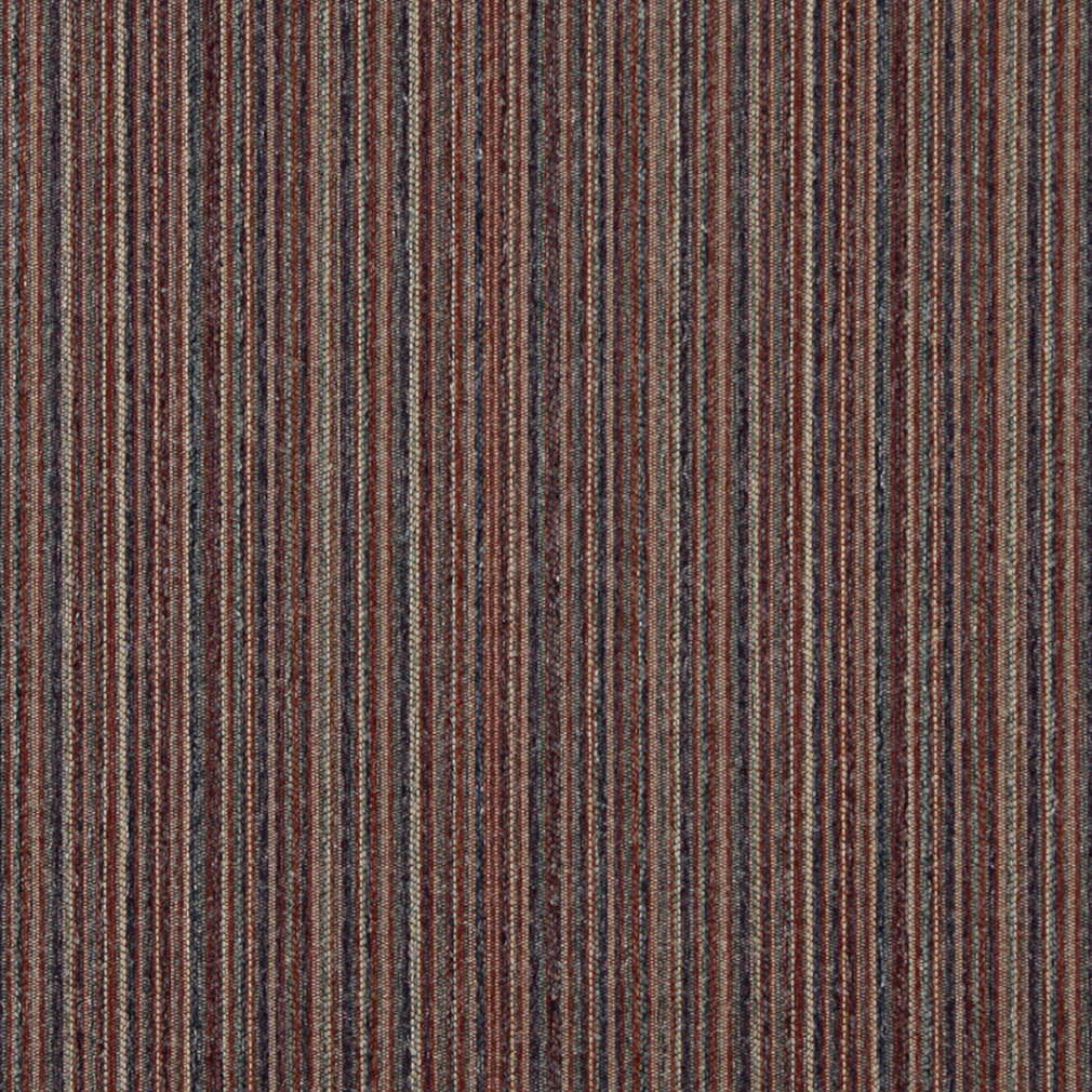 Henna Beige And Burgundy Small Scale Stripe Texture Tweed