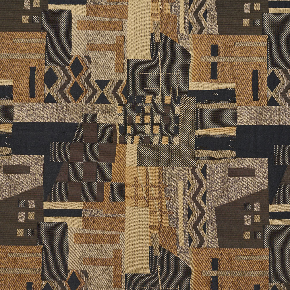 Aztec Beige And Black Southwestern Country Pattern Damask