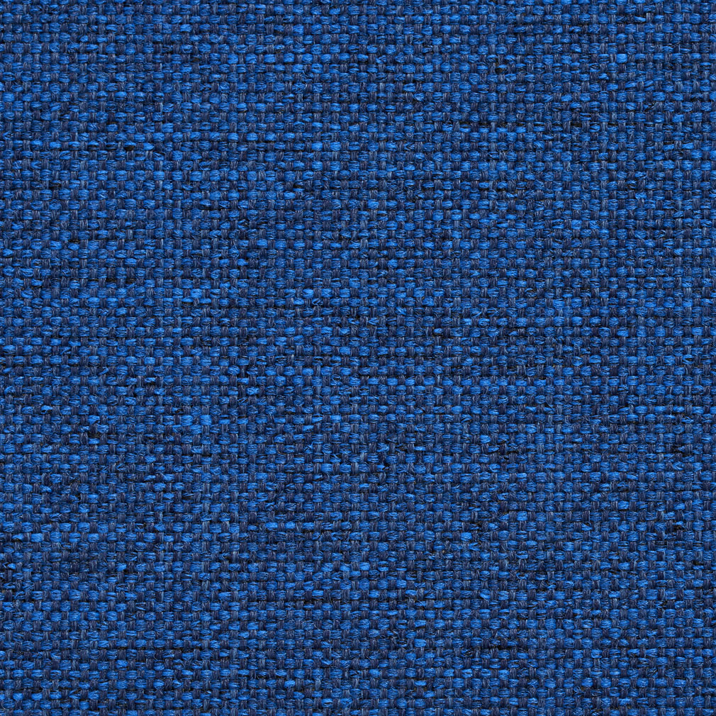 Sapphire Blue Checkered Weave Tweed Upholstery Fabric