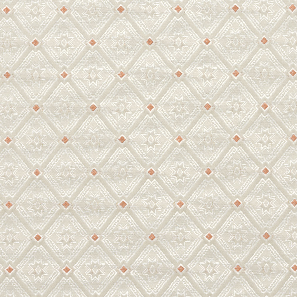 Coral Coral And White Small Diamond Heirloom Brocade