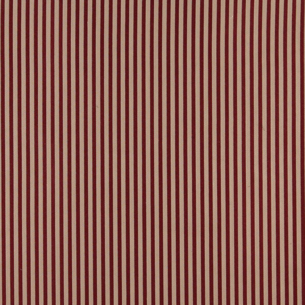Burgundy And Natural Beige Small Stripe Contemporary