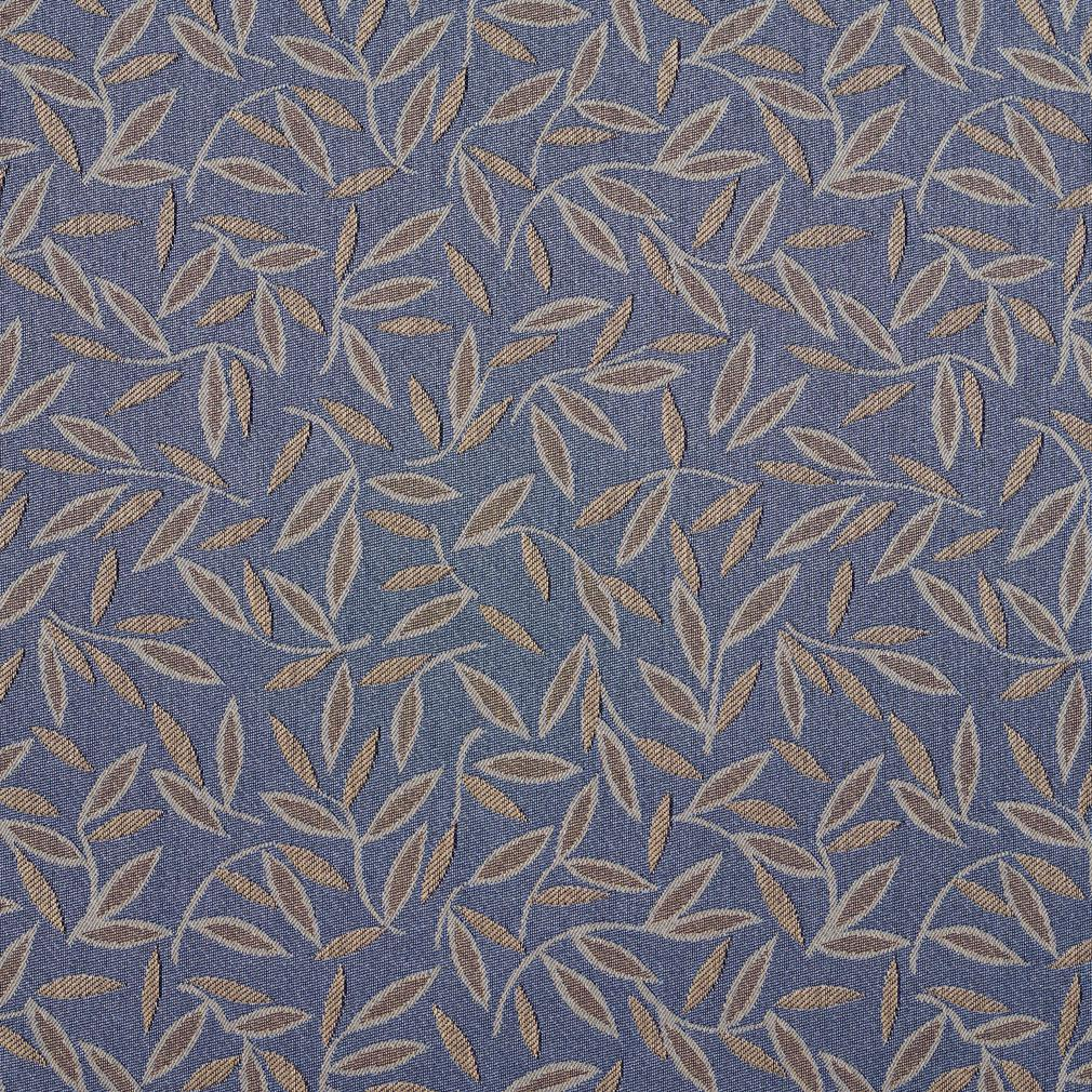 Beige And Light Blue Sapphire Minimalist Foliage