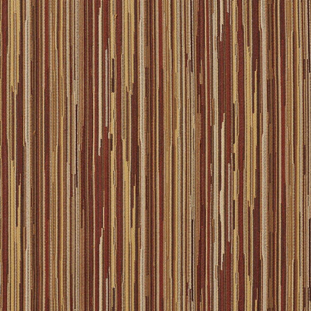 Brown Red Tan And Coral Stripe Wood Contemporary Damask
