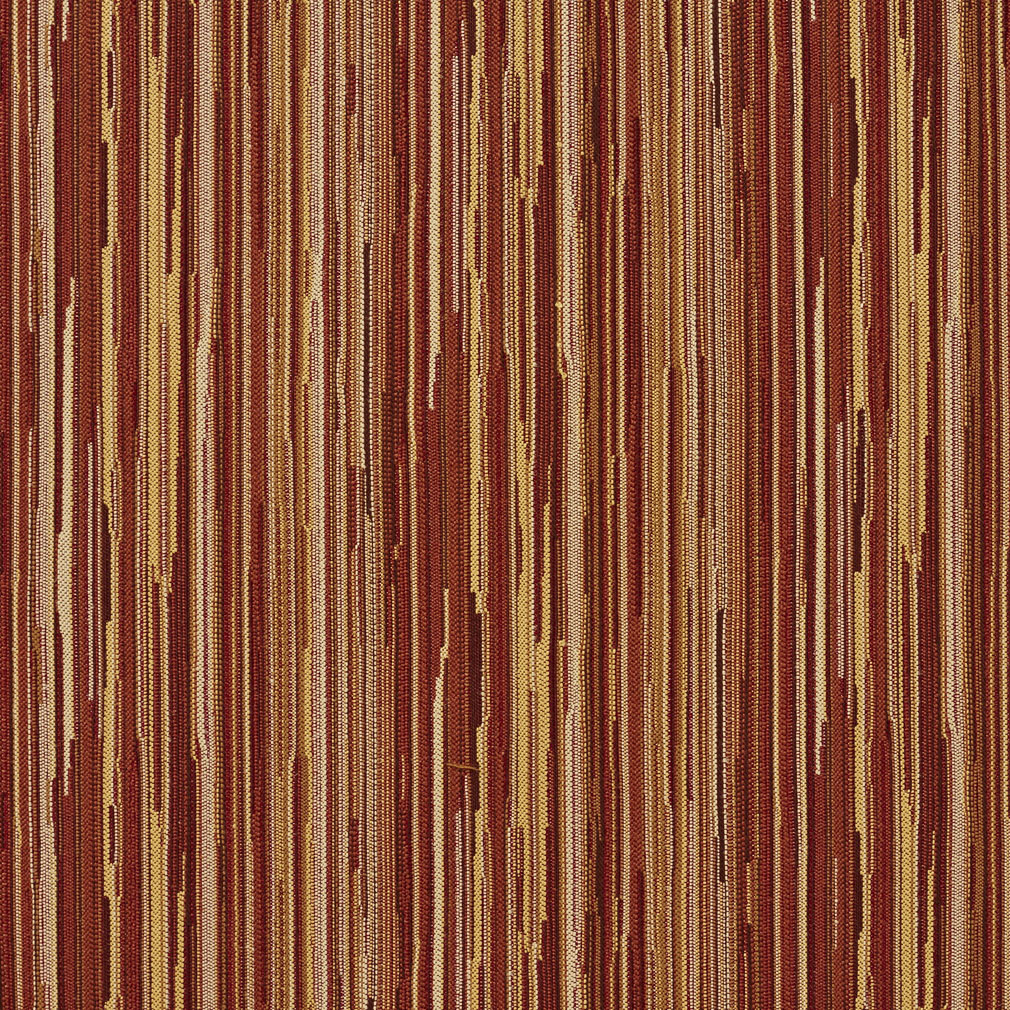 Burgundy And Coral Gold Stripe Autumn Wood Contemporary