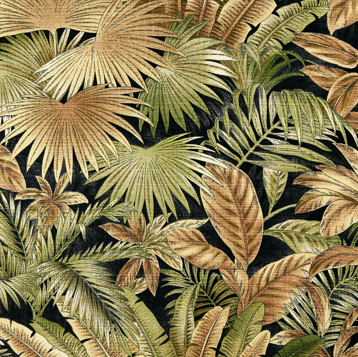 Gold Tan Green Hawaii Beach Foliage Bacteria And Stain Resistant Upholstery Fabric